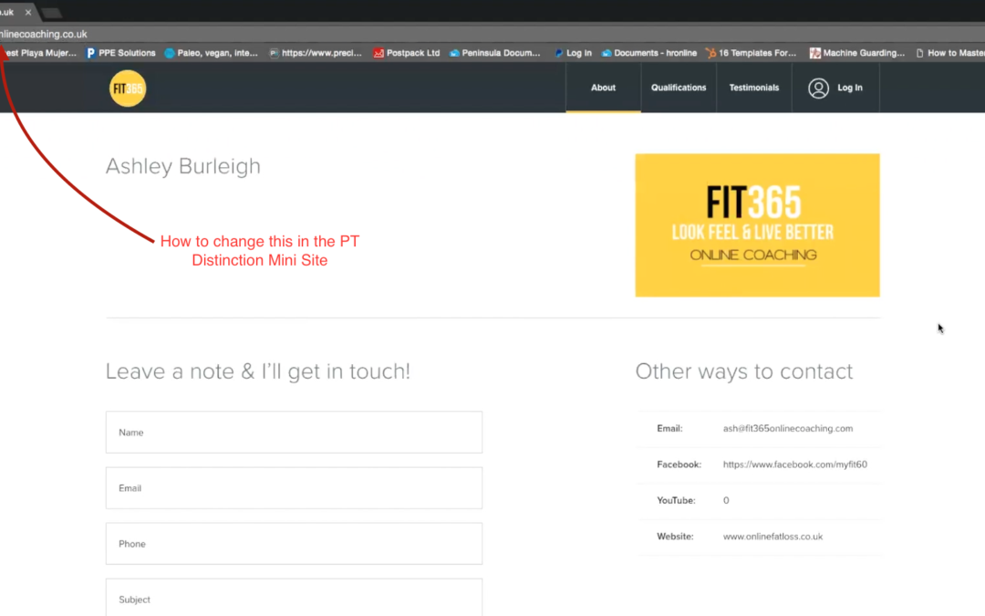 Adding a Custom URL to your PT Distinction Mini Site
