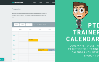 Making The Most Of PT Distinctions Trainer Calendar