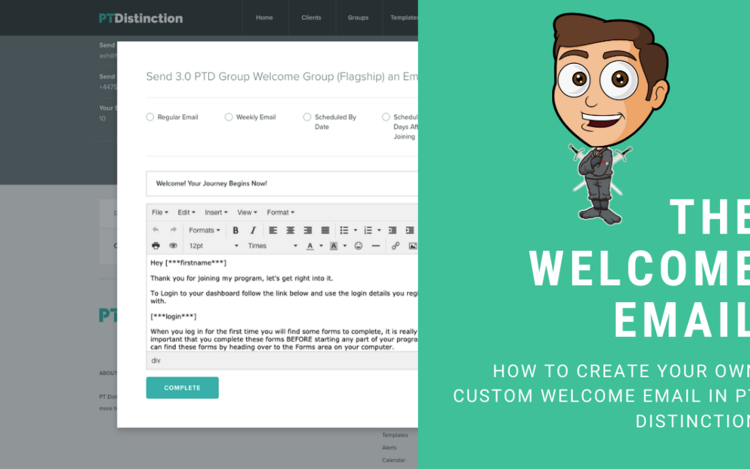 Creating A Custom Welcome Email